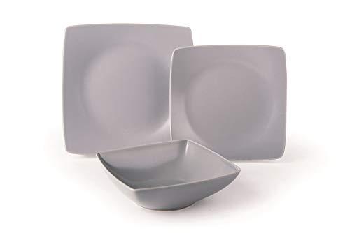 Excelsa Eclipse Service d'assiettes 18 pièces, céramique, gris
