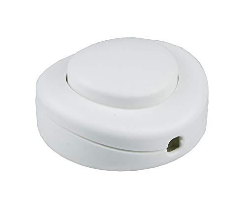 Arditi interruttore unipolare a pedale bianco per cavi piatti H03VVH2-F 2X0,75 mm² e tondi bipolari H03VV-F 2x0.75 mm²