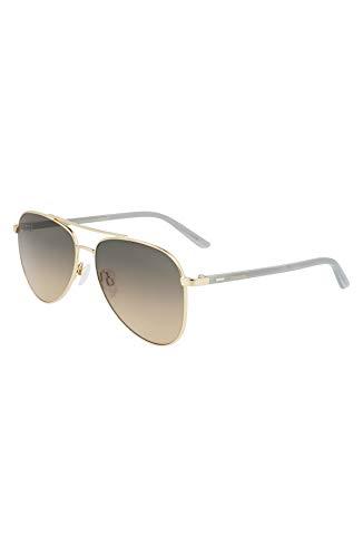 Calvin Klein CK21306S Gafas, Shiny Gold, 58/15/140 Unisex Adulto