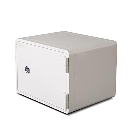 SKKQONG Caja Fuerte Electronica con Llaves para Hogar, Oficina - Empotrable en Pared o Suelo
