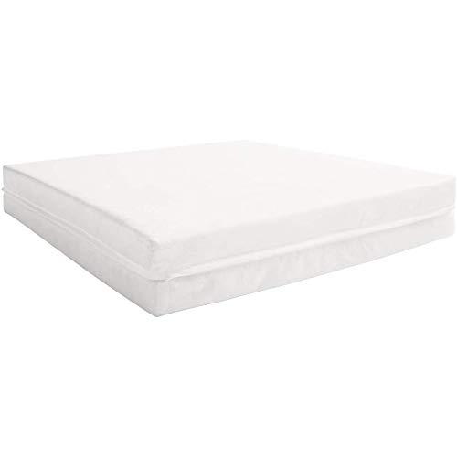 Babycalin Klappbare Extra Colchón para bebé, Poliéster, Blanco, 60x120x4 cm (Paquete de 1)