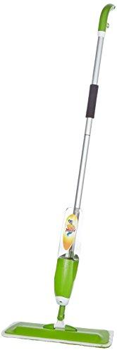 CLEANmaxx 08952 Spray-Mopp | Für Nassreinigung und Trockenreinigung | Integrierte Sprühfunktion | BodenWischer | 500 ml Wassertank | Grün