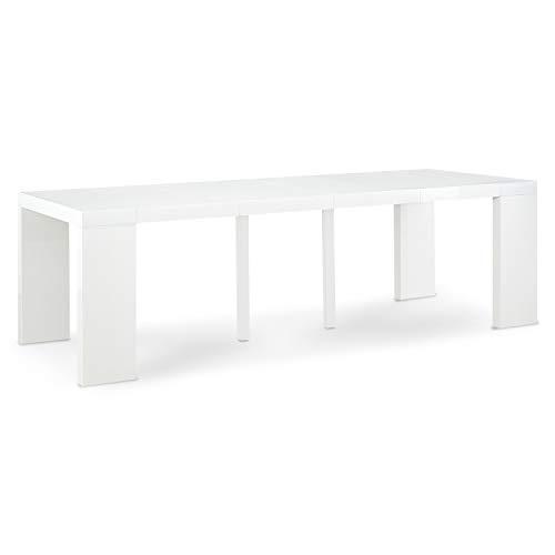 INTENSEDECO Table Console Extensible Oxalys XL Blanc Laquée