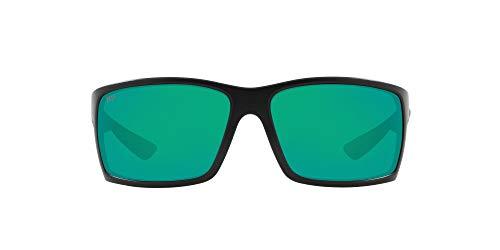 Costa Del Mar Men's Reefton Polarized Rectangular Sunglasses, Blackout/Green Mirrored...