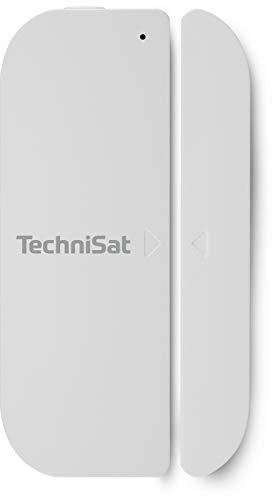 TechniSat Z-Wave Plus Türkontakt 2 (Smart Home Sensor zur Anzeige vom Schließzustand von Fenster und Türen, Haussteuerung per App, Funk Magnetkontakte)
