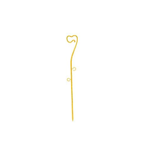 Bâtonnet décoratif 39 cm en plastique pour orchidées, jaune couleur