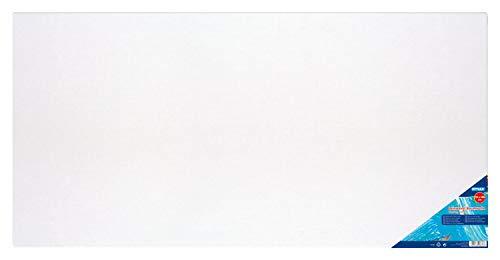 Preisvergleich Produktbild Stylex 28636 - Keilrahmen 50 x 100 cm,  mit Leinwand aus 100 % Baumwollgewebe bespannt,  grundiert,  rückseitig geheftet,  für Öl-,  Acryl- und Temperafarben,  Gouache - Malerei