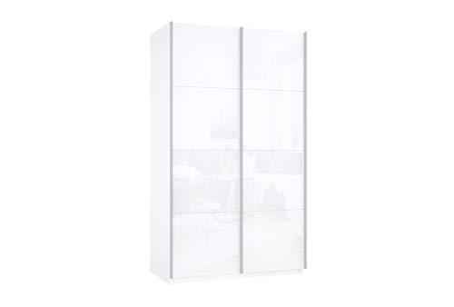 Prime 2020 Schwebetürenschrank kompletter Glasfront 140x190 cm