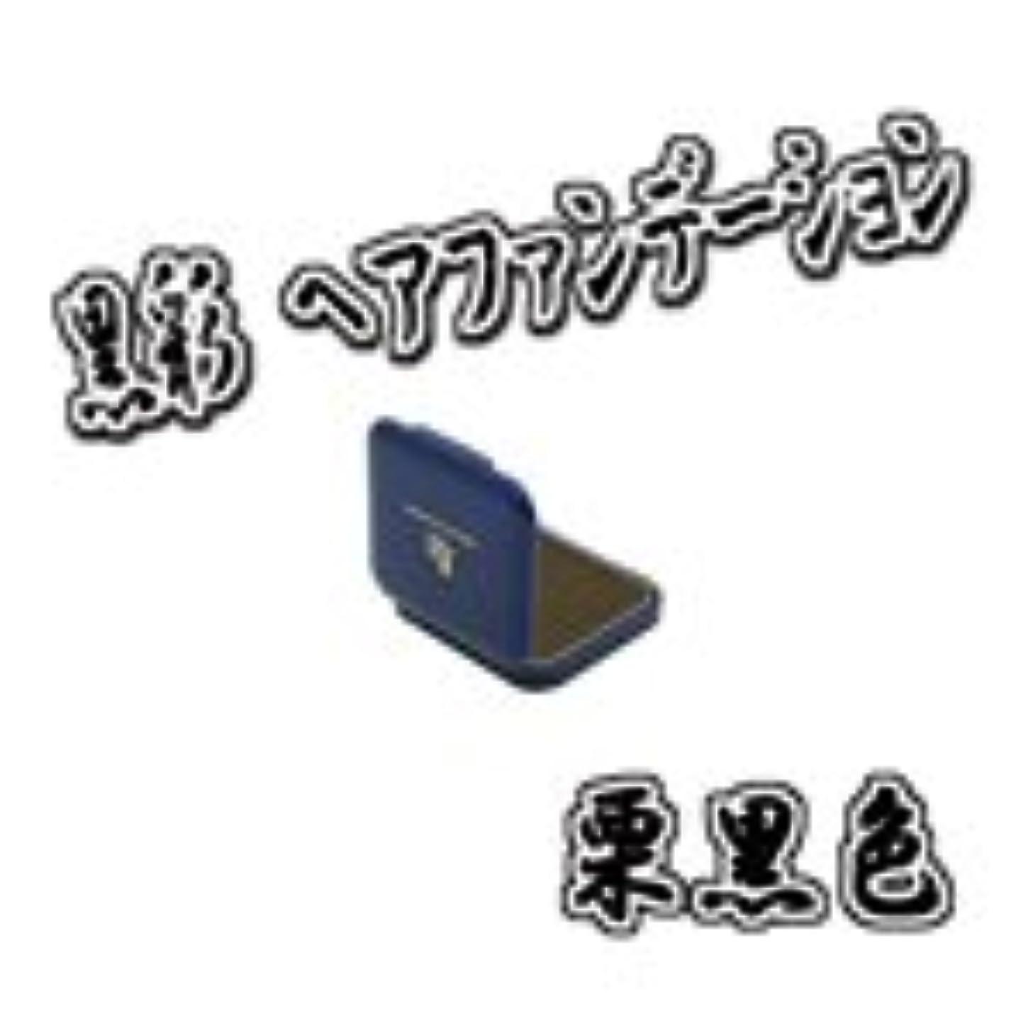 定説赤ちゃん二層AMOROS アモロス 黒彩 ヘアファンデーション 【栗黒】 13g ミニケース パフ付き