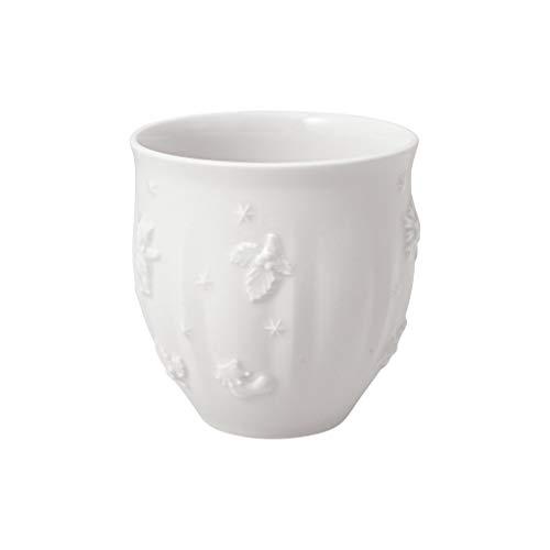 Villeroy & Boch - Toy's Delight Royal Classic Mug sans anse, tasse au motif de Noël en relief, porcelaine premium, 250 ml, blanc