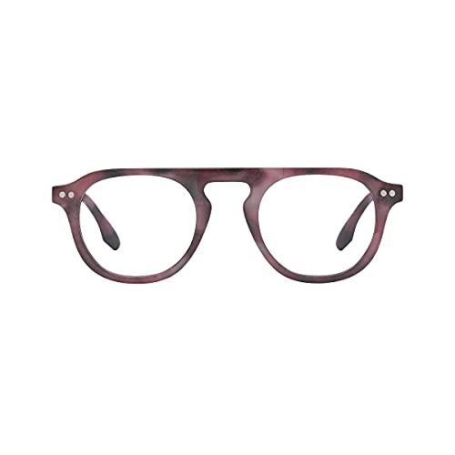 K-Eyes – Gafas de lectura con lupa para hombre y mujer, dioptría + 1 a +3,5 – ramas flexibles – Diseñado en Francia, Rojo (granate), +3