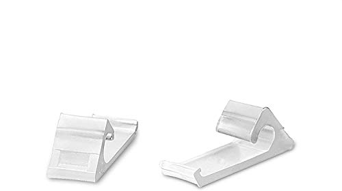 THE CIMPLE CO - Nylon Horizontal Siding Clips for Coax (RG6 RG59) Cable Mounting Home Snap in Clips for Hanging and Wire Bundle Cable Management - White - 100 Pack