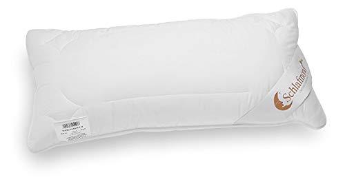 Schlafmond Märchenweich Kopfkissen 40 x 80 cm, Kissen aus Naturfasern mit Reißverschluss und anpassbarer Füllmenge, waschbar bis 60 Grad, Made in Germany