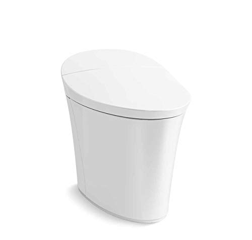 Kohler K-5401-PA-0 Veil Comfort Height Skirted One-Piece Elongated Dual-Flush Intelligent toilet,...