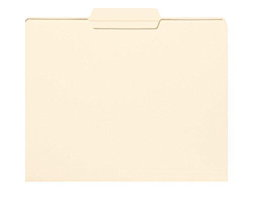 Smead File Folder, Reinforced 1/3-Cut Tab Center Position, Letter Size, Manila, 100 Per Box (10336)