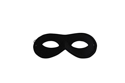 thematys Panzerknacker Maske Stoffbrille schwarz - Kostüm - perfekt für Fasching, Karneval & Cosplay - Universal Damen Herren