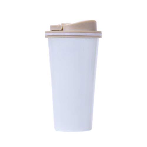 huiingwen Taza térmica de acero inoxidable de 500 ml con tapa de agua al vacío, termo aislado, botella de té para coche