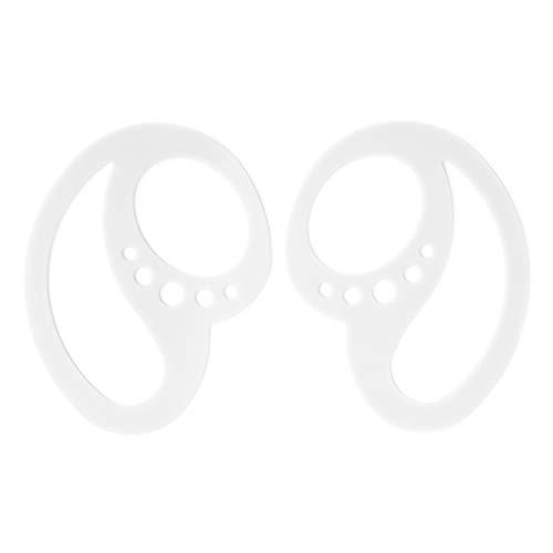 1 par de abrazadera pequeña universal Bluetooth gancho para la oreja Clip de bucle de repuesto portátil anticaída de silicona Bluetooth soporte de abrazadera de fijación(blanco)