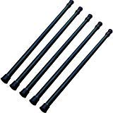 """GoodtoU Tension Rods - 5 Pack Cupboard Bars Tensions Rod Curtain Rod 28"""" to 48""""(Approx.) Extendable Width Spring Tension Rods Fit in The Spaces to Stay Up"""