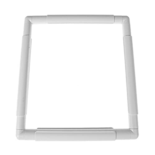 """Plastic Cross Stitch Frame Square Embroidery Hoop White DIY Sewing Tools Sewing Hoop Handhold Craft Clip Embroidery Snap Frame Hoop for Cross Stitching Quilting (C:11 X 11"""")"""