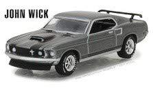 Greenlight 1/64 Hollywood Series 18 - John Wick (2014) 1969 Ford Mustang BOSS 429
