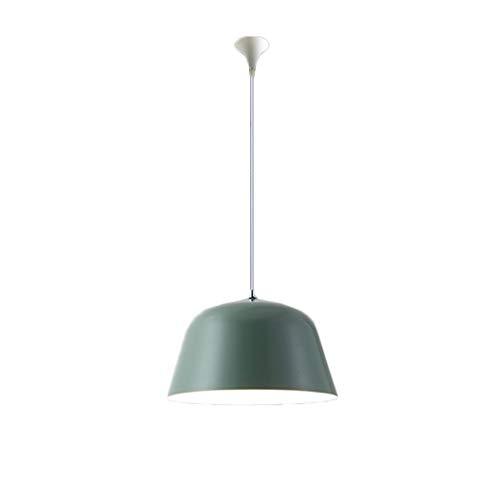 Torshavn Green Nordic woonkamer slaapkamer koffie macarons creatief eenvoudige sfeervolle persoonlijkheid Amerikaanse kleur ijzer eettafel lamp E27 (grootte: 40 cm x 40 cm x 25 cm)
