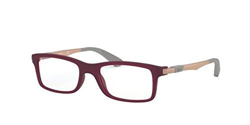 Ray-Ban JUNIOR 0RY1588 Monturas de gafas, Matte Transparente Fuxia, 47 Unisex