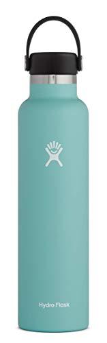 Hydro Flask Botella de agua 709 ml (24 onzas), acero inoxidable y aislamiento al vacío, boca estándar con tapa flexible a prueba de fugas, Alpine