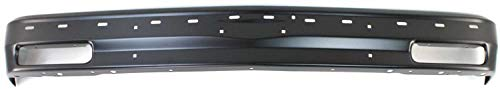 Front Bumper Compatible with CHEVROLET S10 BLAZER 1983-1994/S10 PICKUP 1982-1993 Black with Molding Holes