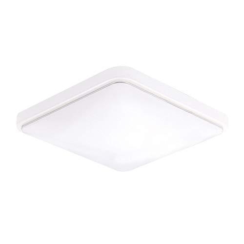 Lixada Lámpara de Techo Cuadrado AC220-V Moderno Panel Luminaria para Baño Dormitorio Cocina Sala de Estar Comedor Balcón Pasillo