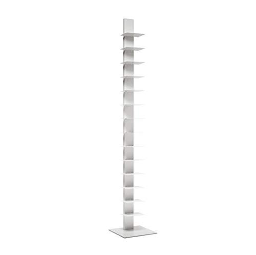 BBB Italia Bücherregal vertikal weiß Höhe 202 cm 14 Regalböden Sapiens ...