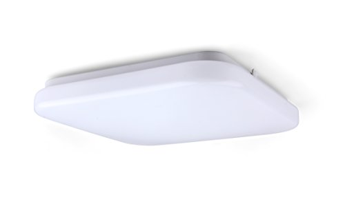 LIT-PaTH Square LED Flush Mount Ceiling Light Fixture, 12 Inch 22.5W (150W Equivalent), Dimmable, 1680 Lumen, ETL and ES Qualified