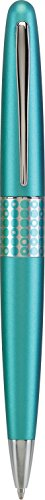 PILOT MR Retro Pop Collection Ballpoint Pen in Gift Box, Turquoise Barrel with Dots Accent, Medium Point Stainless Steel Nib, Refillable Black Ink (91426)
