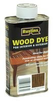 Best Price Square Wood Dye Brown Mahogany 250ML WDBM250 by RUSTIN'S