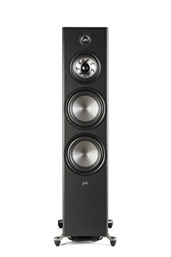 """Polk Reserve Series R700 Floorstanding Tower Speaker, Features 1"""" Pinnacle Ring Tweeter, Dual 6.5"""" Turbine Cone Woofers, Dual 8"""" Long-Throw Drivers, Hi-Res Certified, IMAX Enhanced, Adjustable Feet"""