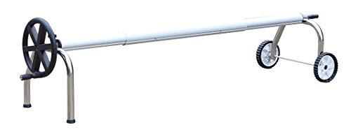 Pool System Protection ICPE4-550/80 Enrouleur Robuste de bâche Extensible pour piscines jusqu'à 5,50 mètres de Large avec Tube Ø 80mm