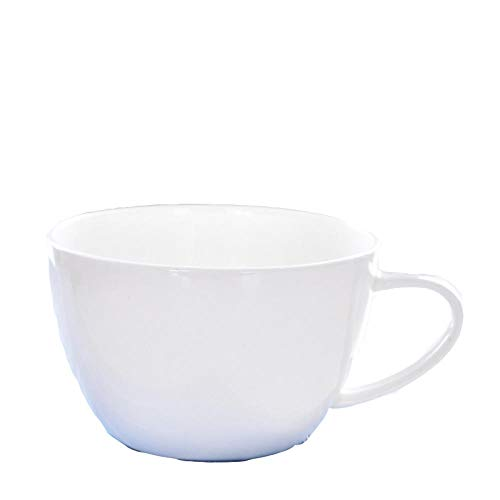 IRCATH hoogwaardige porseleinen mok koffiemok - witte keramiek water mok bot porseleinen beker huishouden koffiemok ontbijt mok 350 ml