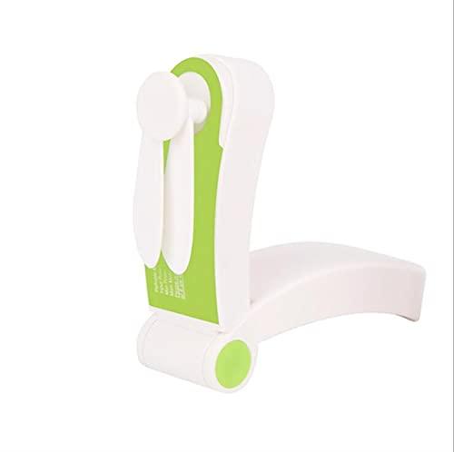 DJDEFK Ventiladores USB Portátil Mini Fan Handheld Personal USB Ventiladores Recargables Bolsillo Bolsillo Plegable Ajustable Ventilador Ventilador de Venta de Venta de Oficina (Color : Green)