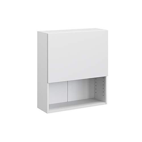 Vicco Compo archiefkast boekenkast kantoorrek staand rek (wit/wit)