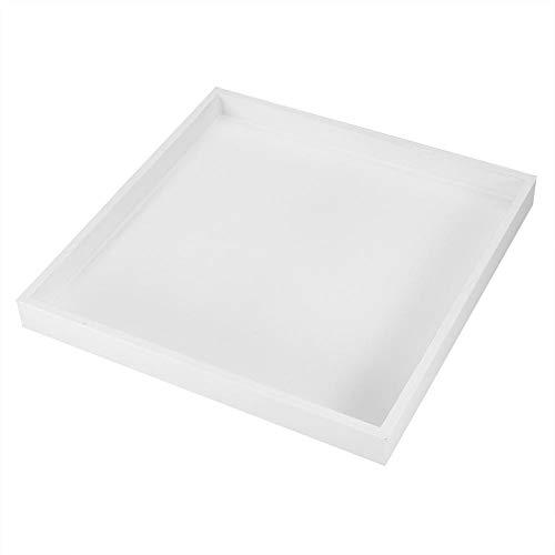 Mehrzweck Serviertablett Desktop Storage Organizer Valet Tablett für Schmuck Lebensmittel Kosmetik Weiß