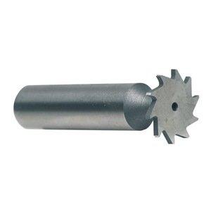 KEO 68985 High-Speed Steel Narrow Width Keyseat Cutter, Uncoated (Bright) Finish, Round Shank, 1/2