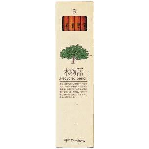 トンボ鉛筆 鉛筆 木物語【B】 1ダース(12本入) LA-KEA B 2個セット