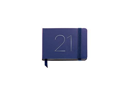MIQUELRIUS - Agenda 2021 Chester - Castellano, Semana Vista, Tamaño 74 x 105 mm (SV), Papel 70g, Cubierta Símil Piel, Color Azul