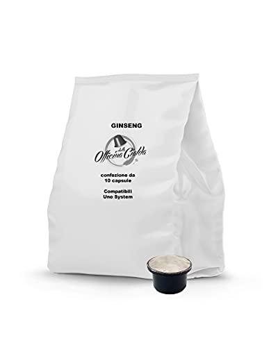ODC Capsule compatibili con macchina da caffè sistema Uno System kit formato da 100 cialde solubile al Ginseng con chiusura salva freschezza MADE IN ITALY
