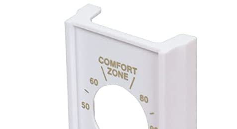 White Single Pole Line Volt Thermostat Cover For Old Style S22 - HVAC