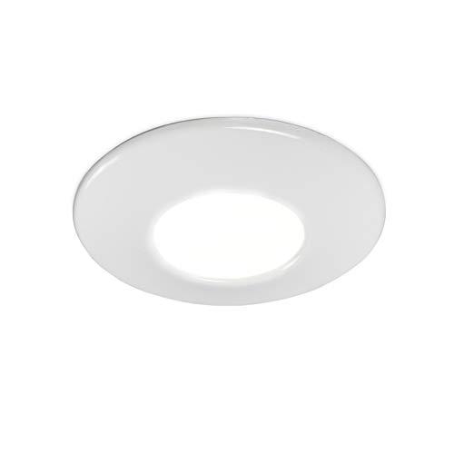 Qazqa Spot extérieur   Spot de Jardin Moderne - Gap Lampe Blanc - GU10 - Convient pour LED - 1 x 50 Watt