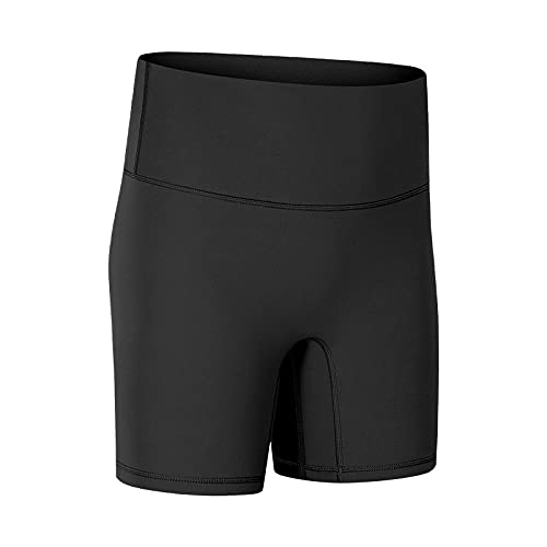 Bossoshe Elásticos Sin Costuras Fitnes, Avere pantaloncini da tasca per Yoga, collant elastici-Nero A_10.-Yoga de Cintura Alta
