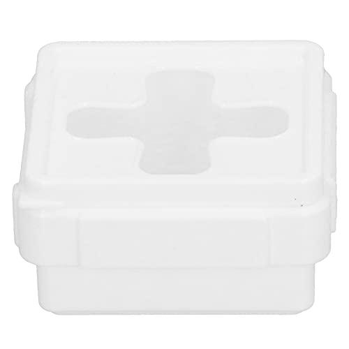 LANTRO JS - Caja de almacenamiento, organizador de escritorio cuadrado pequeño de boca cruzada, contenedor de almacenamiento para monedas de tejido pequeñas...