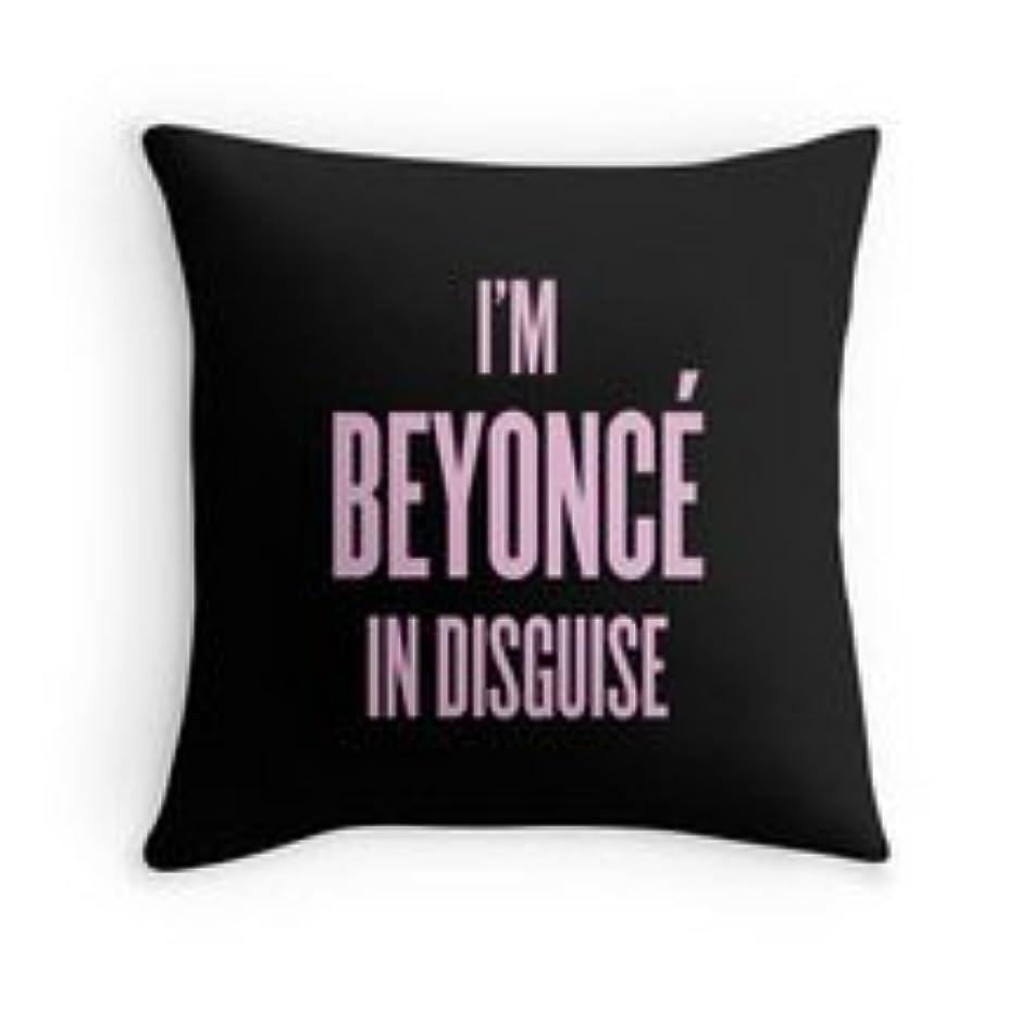 以下わずらわしいパーチナシティHFCケース装飾コットン私はBeyonce In Disguiseパターン投げ枕18?
