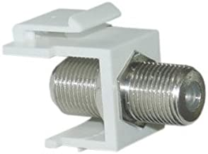 PcConnectTM F-Pin (Coax) Connector Keystone Module, White